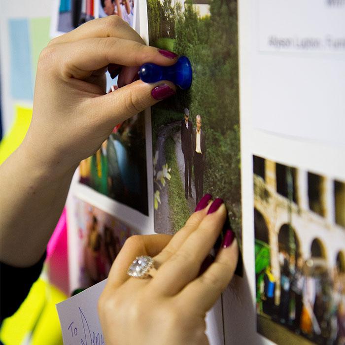pittura magnetica con foto e calamite