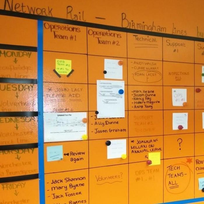 calendario settimanale creato usando pittura magnetica e effetto lavagna colore trasparente smart