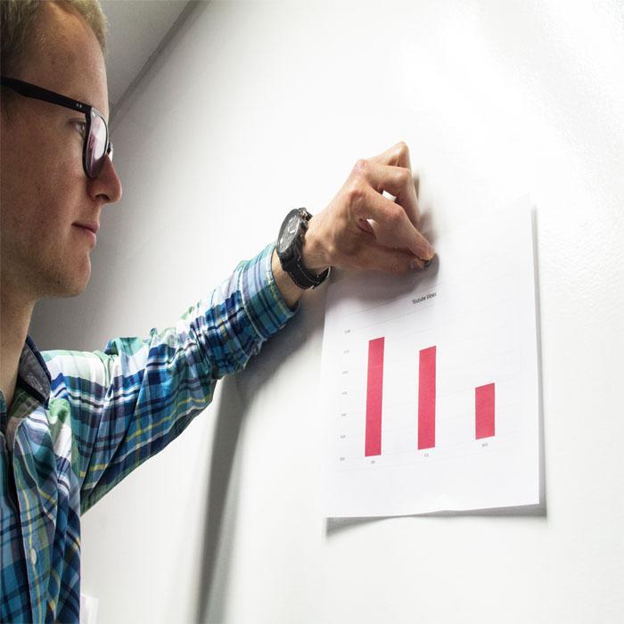 carta da parati vinile magnetica per lavorare in ufficio