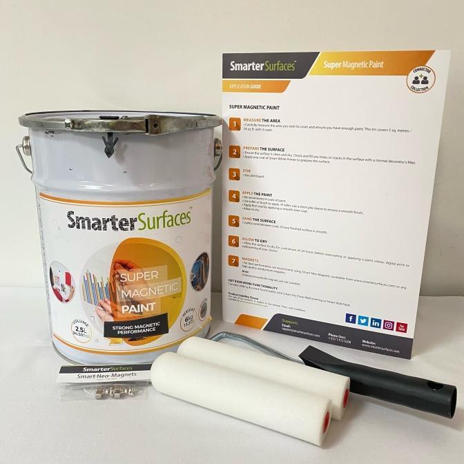 Pittura- Super-Magnetica-kit-completo-guida-di-applicazione-e-magneti