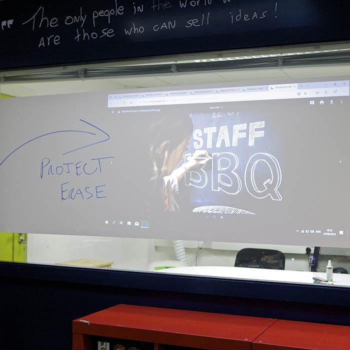 scrittura e proiezione sulla pellicola adesiva smart lavagna e proiettore una pellicola autoadesiva scrivibile