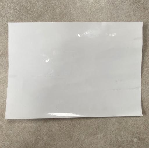 campione A5 pellicola lavagna adesiva trasparente smarter surfaces