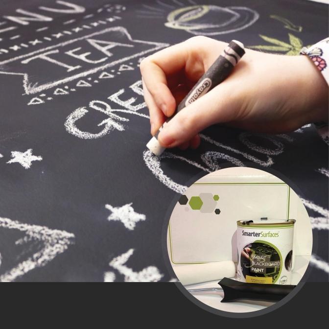 Pittura-Lavagna-Nera-Prodotto-in-uso-con-kit-completo