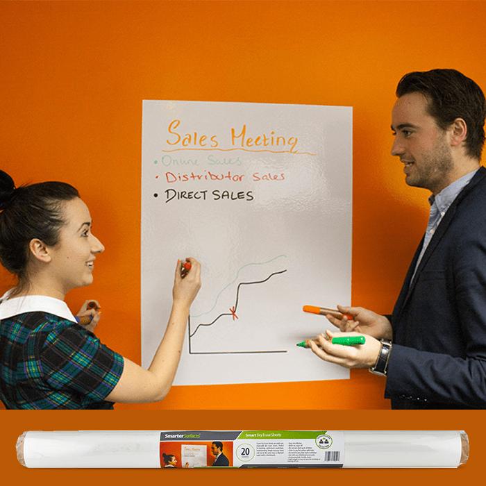 fogli lavagna smart utilizzati durante una riunione
