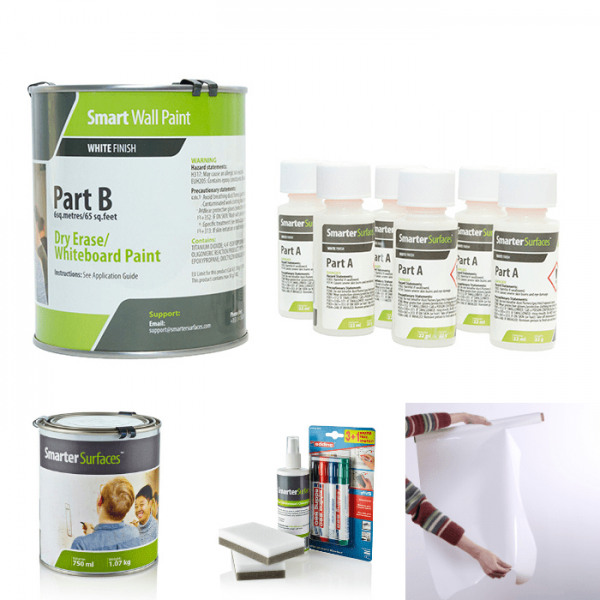kit pittura lavagna bianca smart working smarter surfaces